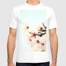 Blossoms MEDIUM White Mens Fitted Tee