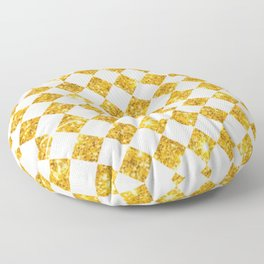gold checkers Floor Pillow