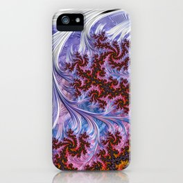 BBQSHOES: Fractal Art Design Mother Of Pearl #1814 iPhone Case