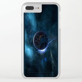 Galactic Lotus Clear iPhone Case
