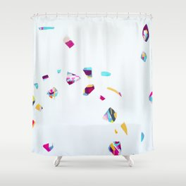 Drift Gently - Abstract painting by Jen Sievers Shower Curtain