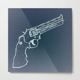 Revolver - Blue Metal Print