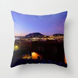 Pozzuoli by Night, Naples, Italy Throw Pillow
