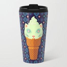 Strawberry-Mint Cat Travel Mug