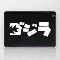 godzilla iPad Cases featuring Godzilla by Vector Vectoria