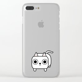 Cat Loaf - White Kitty Clear iPhone Case