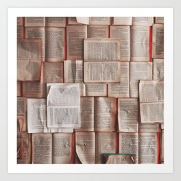 Books, Reading & Read Art Print