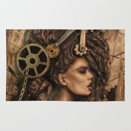 Furiosa, the Steampunk Girl Rug