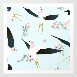 Birds #society6 #decor #buyart Art Print
