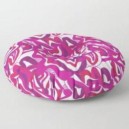 orbs, psychedelic pattern fuchsia Floor Pillow