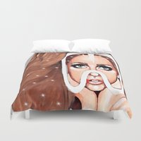 artpop Duvet Covers featuring ARTPOP by Anett Borges