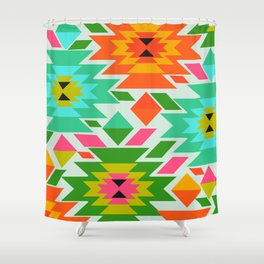 Ethnic with a tropical summer vibe Shower Curtain