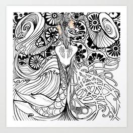 Duality (Black & White Edition) Art Print
