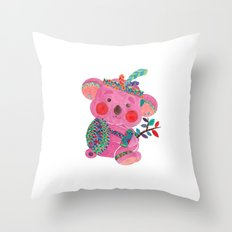 The Pink Koala Throw Pillow