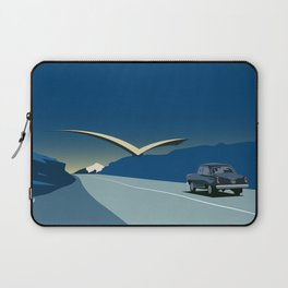"""Soviet Modernism: """"Seagull"""" road mark at the northern entry of Yerevan Laptop Sleeve"""