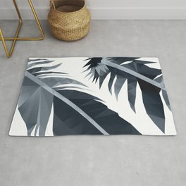 Black and White Feather polygon art Rug