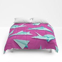 planes and cranes Comforters