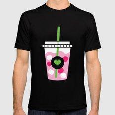Pink Drink MEDIUM Black Mens Fitted Tee