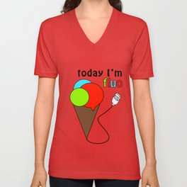 GelatoUsb - today i'm FLUO Unisex V-Neck