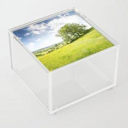 Idyllic Cotswold Summer Landscape Acrylic Box