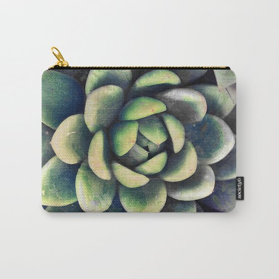 Green & yellow succulent Carry-All Pouch