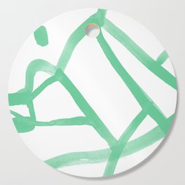 Abstract Map green Nr.2 Cutting Board