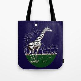Girafe à la nuit Tote Bag