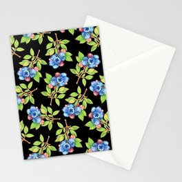 Wild Blueberry Sprigs Stationery Cards