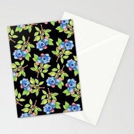 Wild Blueberry Sprigs Stationery Cards