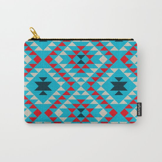 Geometric tribal pattern Carry-All Pouch