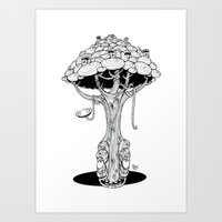 The alien tree Art Print