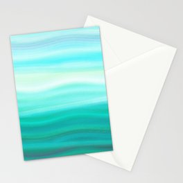 Green Mirage Stationery Cards