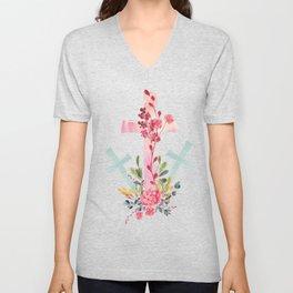 calvary floral Unisex V-Neck