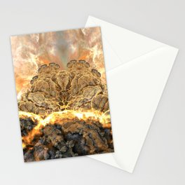 Coral Above the Sun Stationery Cards