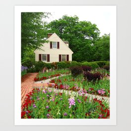 Cottage Garden - Colonial Williamsburg Art Print