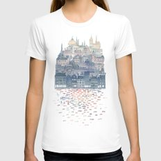 Serenissima White SMALL Womens Fitted Tee
