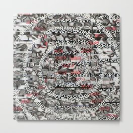 Creating Circumstances 4 Error 2 Fill the System with Meaning (P/D3 Glitch Collage Studies) Metal Print