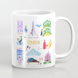 Colorful Paris Coffee Mug