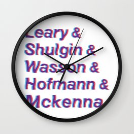 Godfathers of Psychedelia Wall Clock