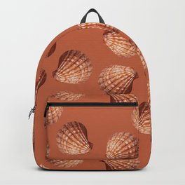 Orange big Clam pattern Illustration design Backpack
