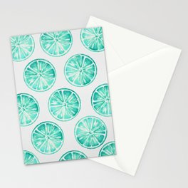 Turquoise Citrus Stationery Cards
