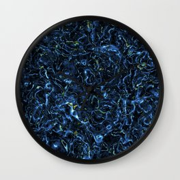 Blue charge Wall Clock