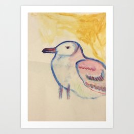 Albert the Seagull Art Print