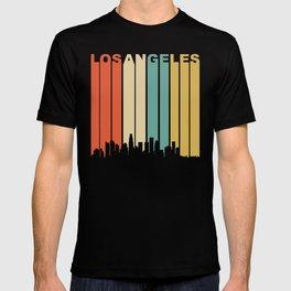 Retro 1970's Los Angeles California Downtown Skyline T-shirt