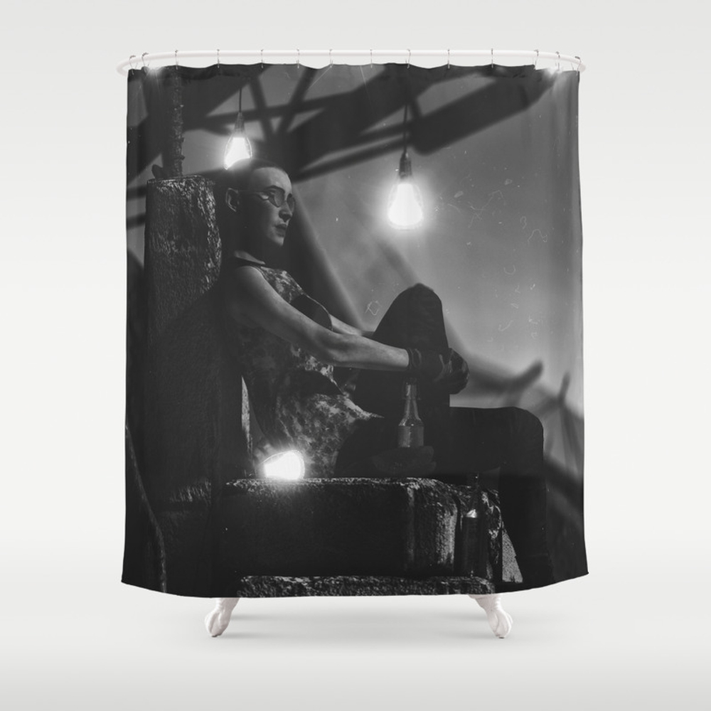 Day 0699 /// Camp_/_site Shower Curtain by Stigfostervold CTN7657607