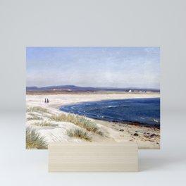 Amaldus Nielsen People on a Beach Mini Art Print