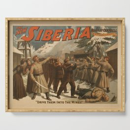 Vintage poster - The New Siberia Serving Tray