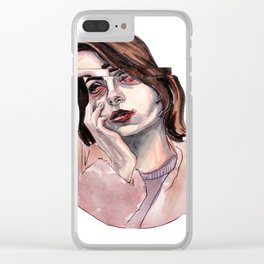 GLITCHE GIRL Clear iPhone Case