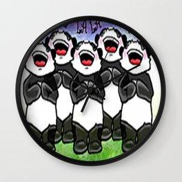Panda singing choir Wall Clock