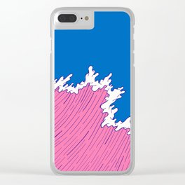 Sea Swell Clear iPhone Case